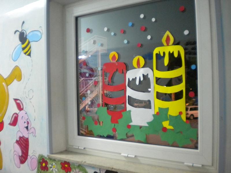 Le decorazioni dei bambini della anna frank nei reparti for Addobbi finestre natale scuola infanzia