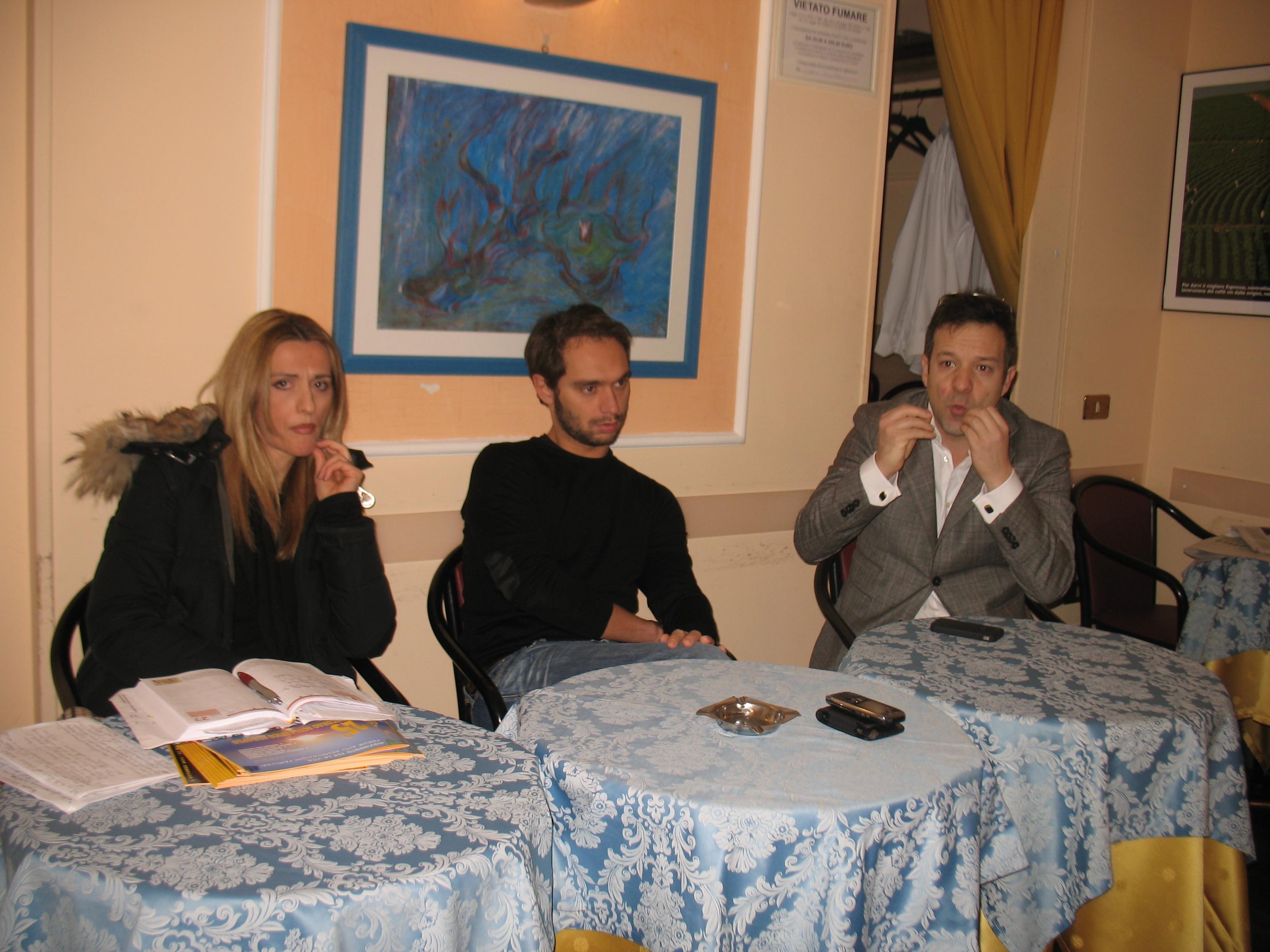 Da sinistra Francesca D'Alessandro, Fabio Massimo Conti e Fabrizio Nascinbeni