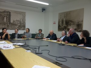 Un momento dell'incontro in Regione per la questione della Centrale Turbogas