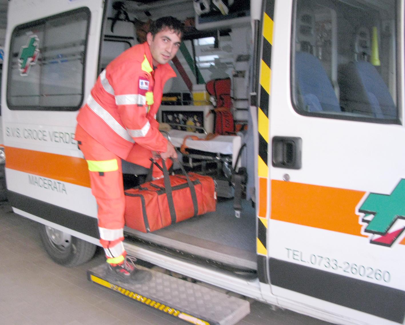 Luca Buldorini in servizio