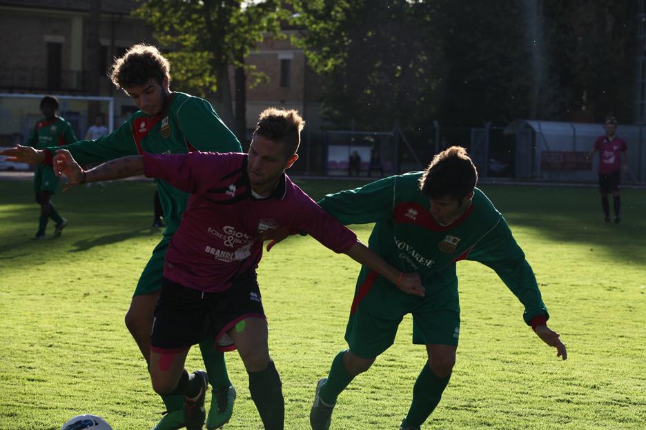 Il centrocampista del Tolentino Iachini