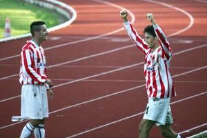 Federico Melchiorri esulta dopo un gol