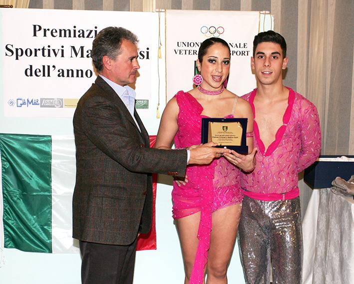 Premio agli atleti ballerini dell'anno Clarissa Ciminari e Matteo Gatti
