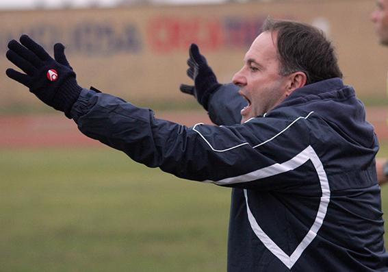 L'allenatore della Civitanovese Giovanni Cornacchini