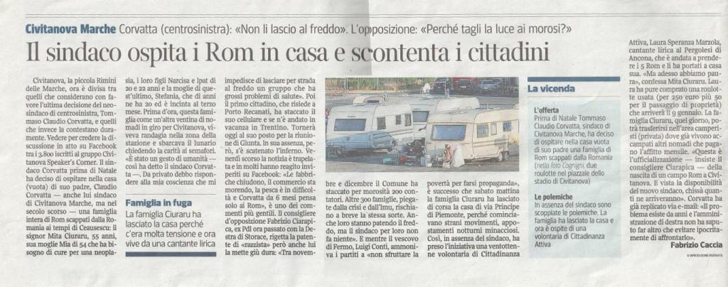 Il servizio uscito oggi sul Corriere della Sera