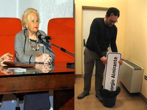Donna Assunta e il gesto dell'assessore Peroni che ha scatenato le proteste
