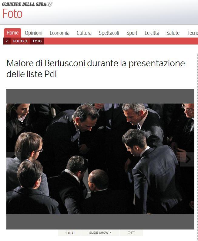Un'altra immagine pubblicata dal Corriere.it