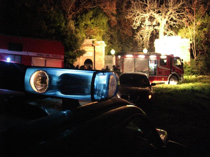 Il ritrovamento è avvenuto in una torretta del parco di Villa Lauri