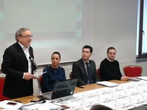 Franco Capponi, Valentina Vezzali, Mario Andrenacci e Samuele Montecchia
