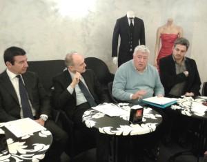 Da sinistra Ignazio Brignani, Remigio Ceroni, Ottavio Brini e Simone Baldelli