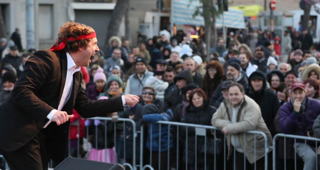 Lo spettacolo del comico Nima da Zelig. Foto Luigi Gasparroni