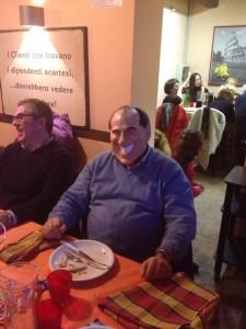 Ottavio Brini (Pdl) con la maschera di Berlusconi