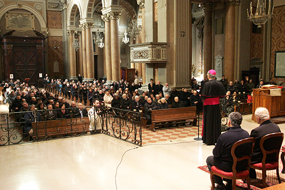L'annuncio in cattedrale
